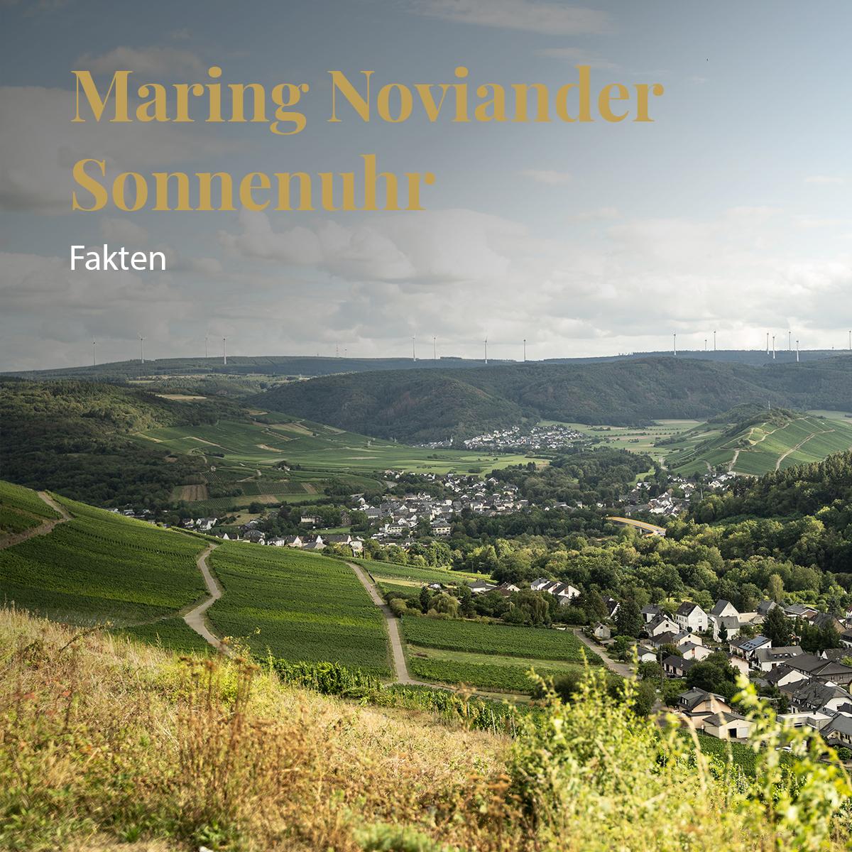 Maring Noviander Sonnenuhr - Weingut Hubertushof Lieser