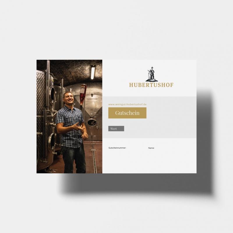 Gutschein Weingut Hubertushof - Online Wein und Gästehaus